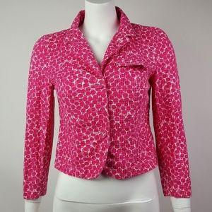Gap Pink White Jacket Size 4